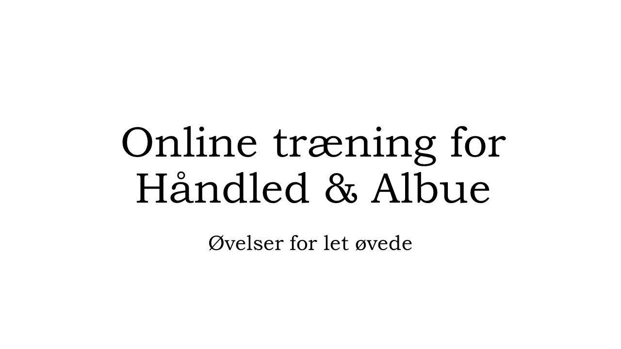 trænings kategori, håndled og albue